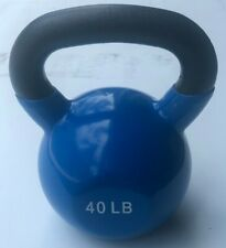 BRAND NEW 40LB VINYL DIPPED KETTLE BELL WEIGHT FOR COMMERCIAL GYM 100% IRON!