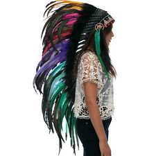 CLEARANCE PRICE! Long Native American Indian Style Headdress - Electric