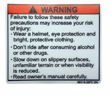 SUZUKI MOTORCYCLE INFO HELMET WARNING SERVICE TANK BADGE STICKER  RACING BIKE
