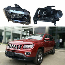 Glass Lens For Jeep Compass 2014-2015 Composite Headlight Assembly Set