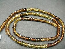 """2 STRAND PETRO TOURMALINE  FACETED RONDELLE 3-3.5 MM,13"""" LOOSE GEMSTONE BEADS"""