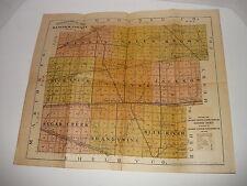PRAIRIE FARMER'S DIRECTORY HANCOCK COUNTY INDIANA 1921,F/O COLOR MAPS