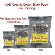 A Grade Ceylon Black Pepper 100% Organic Natural SRI LANKA Free Shipping