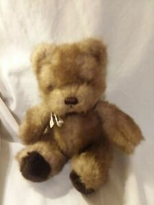 """Russ Berrie Plush Picadilly Bear Caress Soft Pets 8"""" Sitting Vintage Animal 7681"""