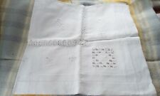 White monogrammed linen cloth