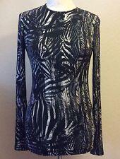 EDUN Crewneck Long Sleeve Tee Top Multicolor Abstract Pattern  Size XS