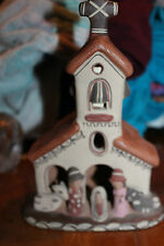 "Allpa Perusian craft ayacucho ceramic church - clay/ceramic 7.5"" tall L@@K"