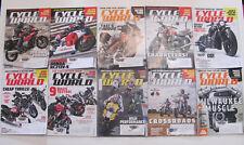 10 Lot CYCLE WORLD MAGAZINE KAWASAKI DUCATI BMW HONDA Motorcycle Triumph Indian