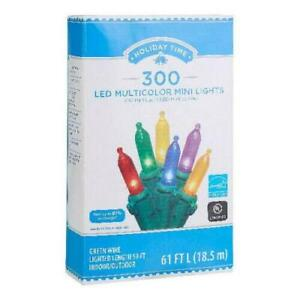 Holiday Time 300 LED Multicolor Mini Lights, 59' Indoor and Outdoor Light Decor