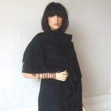 Étole cachemire laine noire - châle plaid foulardbelle qualité