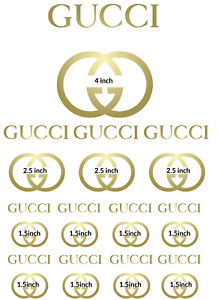 12 x Edible Gucci Logo Icing Cake Topper Decoration Cupcakes Birthday Party