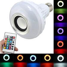 lampada altoparlante cassa speaker Led E27 10W RGB Multicolore Con Telecomando