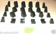 LEGO Black 1x2x3  1x2x2 Slope Pillar Column Support  10237 10937 10218 10185 lot