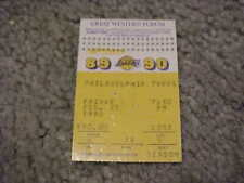 1990 Los Angeles Lakers v Philadelphia 76ers Basketball Ticket Barkley 32 points