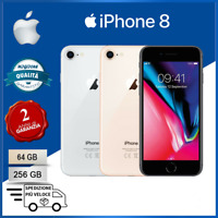 Nuovo Apple iPhone 8 64GB 256GB Grigio Oro Argento Rosso Smartphone 24Mesi - IT