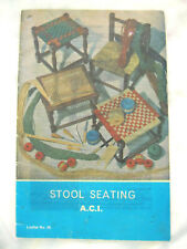 Aci Craft 035 Stool Seating cane rush seagrass woven 1975 16pg booklet