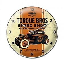 Hot Rod Torque Bros Speed Shop Metal Clock Man Cave Garage Body Shop Club fsc014