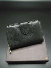Mulberry Medium Zip Around Wallet /Purse Black Leather