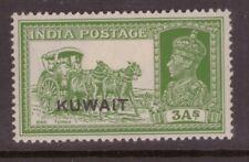 Kuwait 1939 Overprint on India 3A horses SG 41 mounted mint
