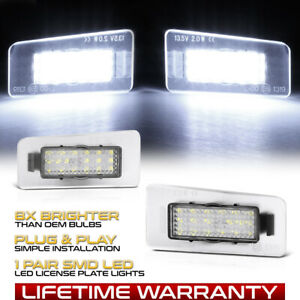 [BRIGHT] White LED License Plate Light Pair For Hyundai Elantra Accent Kia Forte