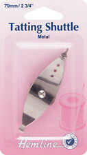 Hemline Metal Tatting Shuttle - 70mm