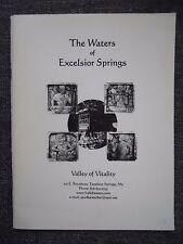 Waters of Excelsior Springs Valley of Vitality Missouri History Book Elms Resort