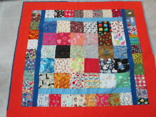 Hand Quilted Novelty Quilt Toddler Bed Crib Construction Fabric & Novelty Prints