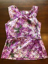 J.Crew Collection Purple/Lilac Floral Top Tank Sz 6