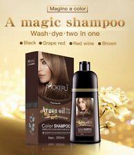 Natural Permanent Fast Hair Dye Coloring Shampoo with Argan Oil Long Lasting DIY