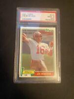 1981 TOPPS FOOTBALL JOE MONTANA rookie  PSA 9 (OC) RC SF  49ERS