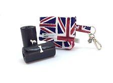 Dog Walking Pouch, Union Jack, support pour sac de caca de chien, Doggy Bag, UK Flag