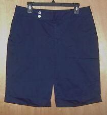 Women's Chaps Navy Blue 2 Pocket Casual Chino Shorts 10