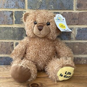 Life Is Good Bear Build-a-Bear Teddy With Star Wars Theme Music Button In Paw