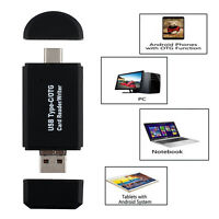 High Quality USB 2.0 USB-C Micro TF SD Card Reader Adapter For Samsung Android