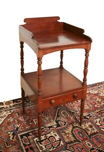 American Walnut Wash Stand with drawer 19th century