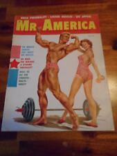 Vintage MR AMERICA bodybuilding muscle magazine/ATHLETIC YOUTH cover 9-58