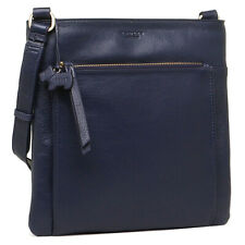 RADLEY NAVY BLUE LEATHER HANDBAG SHOULDER CROSS BODY BAG NEW!!!