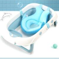 Portable Baby Bath Tub Mat Non-slip Bath Safety Cushion Foldable Soft Pillow