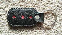 Leather Key Chains Black and Red keys Holder Handmade Car Keyring keychains