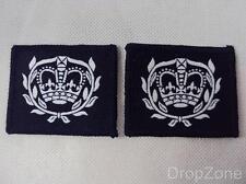 2x Militare Inglese RAF Cadetto Warrant Officer Rango Distintivo In Tessuto