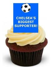 CHELSEA'S BIGGEST SUPPORTER - 12 Edible Stand Up Premium Wafer Cake Toppers