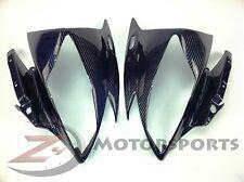 2006 2007 Yamaha R6 Upper Front Nose Headlight Cowl Fairing Carbon Fiber Blue