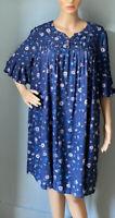 Mantaray Womens Floral Print Shift Dress Frill Sleeve Uk Size 12 Blue Mix BNWT