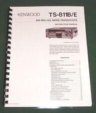 Kenwood TS-811B/E Instruction Manual - Premium Card Stock Covers & 28 LB Paper!