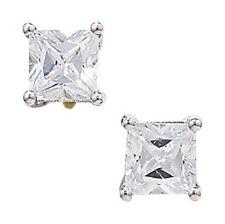 Pendientes de joyería con gemas blancas de oro blanco