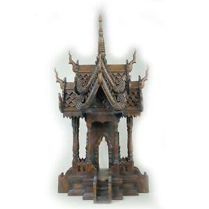Geisterhaus Thailand Mae Sai Teakholz Feng Shui Geisterhäuschen 0,75 m
