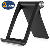 2Pack Adjustable Portable Desktop Phone Stand Desk Holder For iPad/iPhone/Tablet
