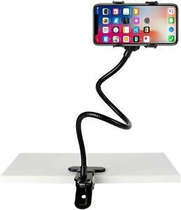 New Cell Phone Clip Holder Goose Neck Universal Lazy Bracket Flexible Long Arm