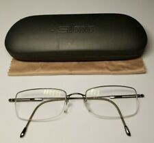 Silhouette Titan 7585 40 6053 Silver Rx Glasses 51□19-140 W/ Hard Case & Cloth