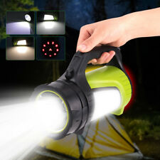 Portable LED Searchlight Lantern Handheld Spotlight USB Rechargeable Flashlight